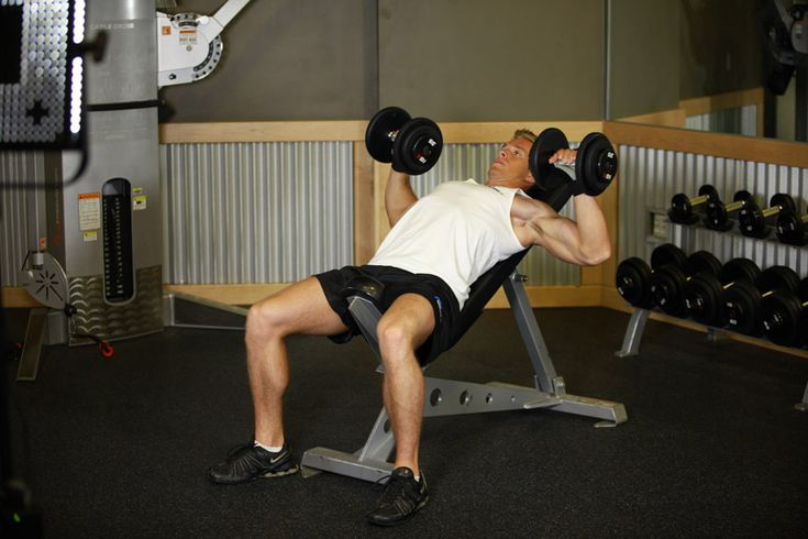 Chest & Arms, Day 2&5: Incline Dumbbell Press