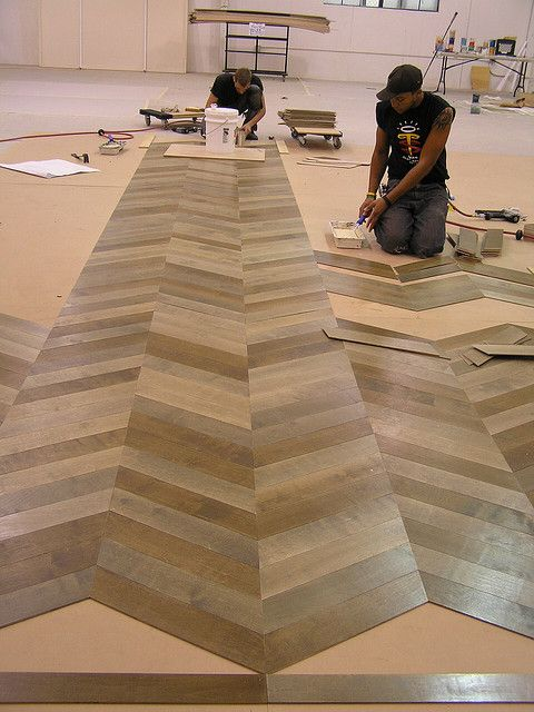 Chevron tiled floors... be still my heart! maybe ONE day