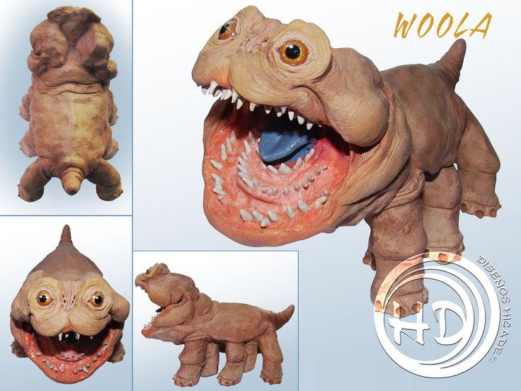 """Figura de Woola, el simpático perro alienígena de la película de Disney """"John Carter.  Figura de 12x19 cm aprox. totalmente hecha a mano. Materiales: FIMO.  Diseños Hicade."""