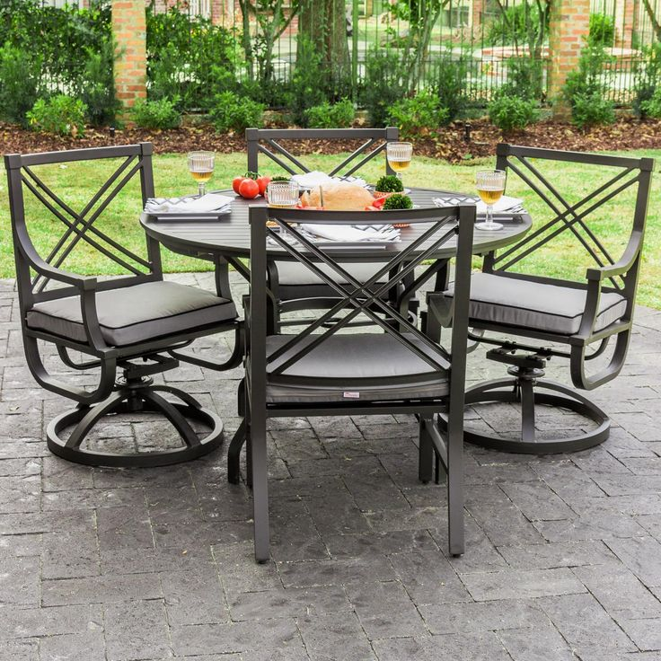 Lakeview Outdoor Designs Audubon 4-person Patio Dining Set
