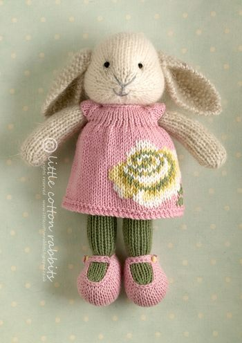 Rosalyn the rabbit...on etsy and also patterns.