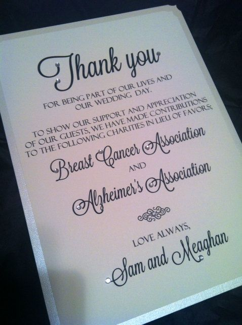Best 25+ Donation wedding favors ideas on Pinterest Wedding - thank you notes for donation