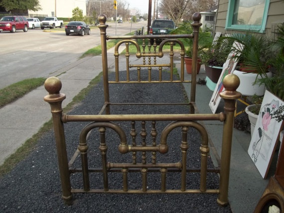 antique brass bed by on etsy - Brass Beds