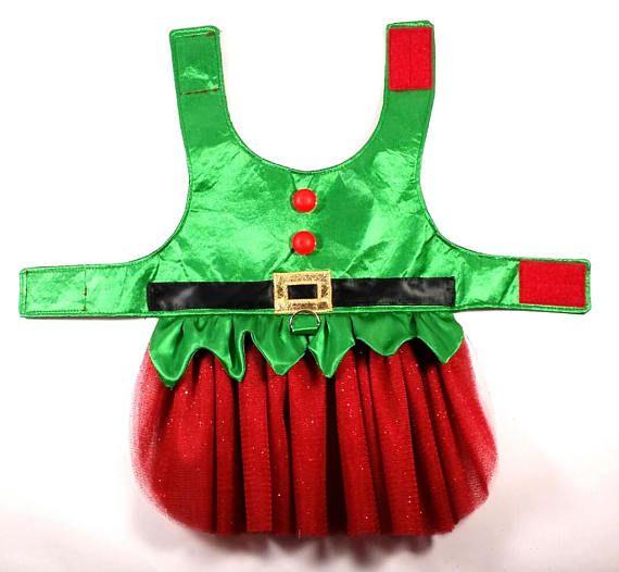 Santa and Elf Dog Tutu Dress SMALL & MEDIUM Sewing Pattern