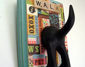 Dog Tail Leash Holder - Where's the Fire - Personalize it with Optional Letter Tiles. $17.95, via Etsy.