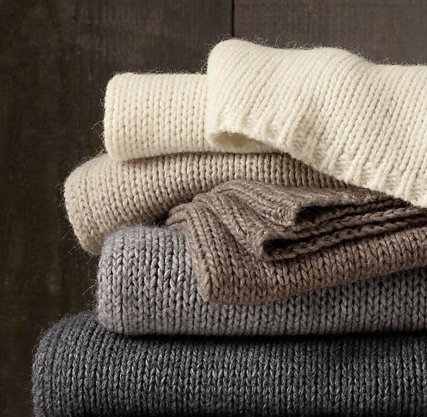 Restoration Hardware Italian Wool and Alpaca Ribbed Throw | Remodelista: Knits Throw, Decor, Living Rooms, Restoration Hardware, Ribs Throw, Ribs Knits, Alpacas Ribs, Italian Wool, Blankets