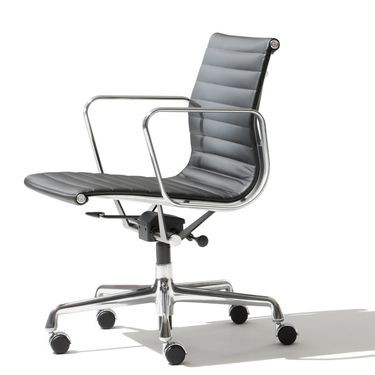 This Herman Miller chair, its minimalism and classic lines, all combine to create an iconic look and a breathtaking profile. Designed by Charles and Ray Eames, EA 117 Aluminium Group