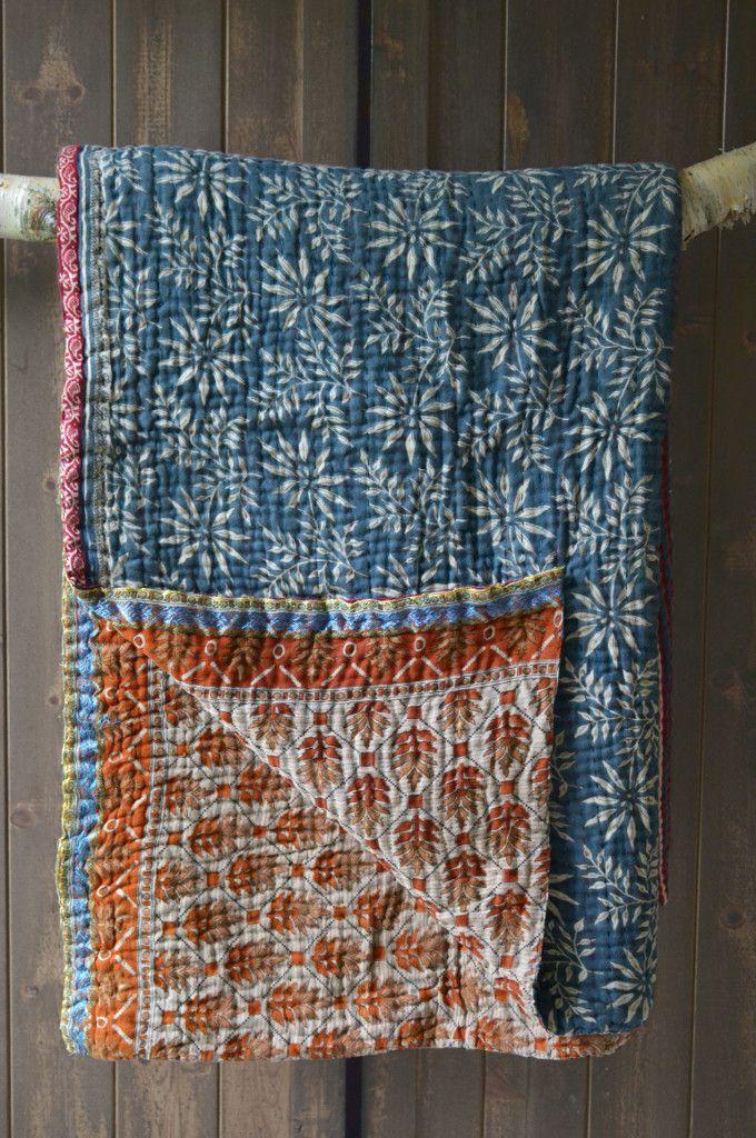 Kantha blankets and throws   Kantha Bedspread   Kanthas UK   Decorator's Notebook