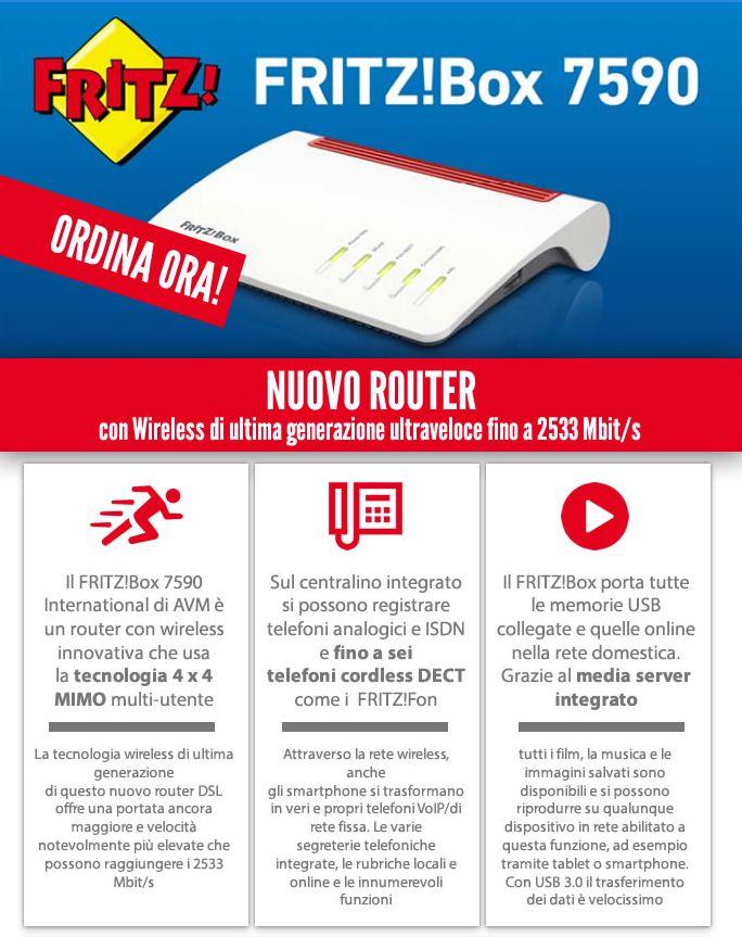 NUOVO ROUTER con Wireless di ultima generazione ultraveloce fino a 2533 Mbit/s. Contattaci: http://www.nicoshop.com/form/view.php?id=13