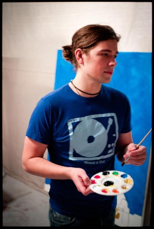 Zac Hanson painting // third grade me is FREAKING OUT RIGHT NOW
