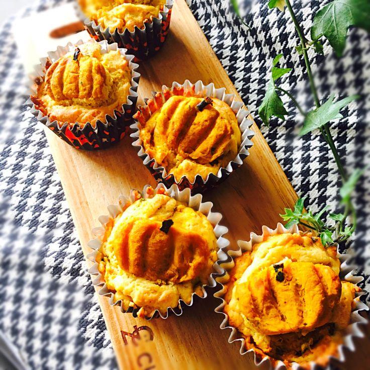 usako's dish photo かぼちゃのマフィン   http://snapdish.co #SnapDish #レシピ #ハロウィン #マフィン #朝ご飯 #おやつ