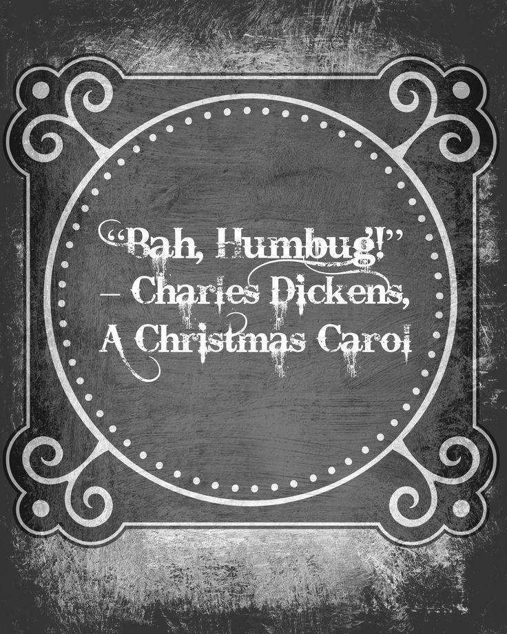 Charles Dickens U0027Bah Humbug!u0027 A Christmas Carol Advent Calendar Quote