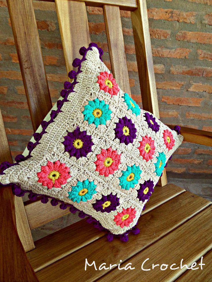 Almohadon a crochet!