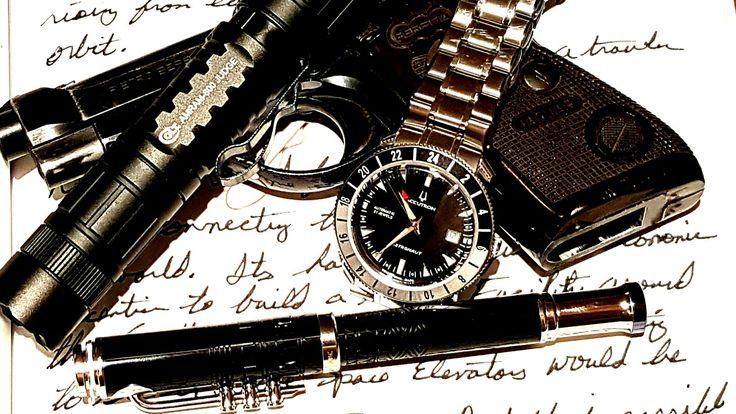 EDC for Valentine's Day:  Bulova Astronaut GMT limited edition,  Mont Blanc, Colt AMRAM 800 Judge, Beretta Jaguar.  #watches #watchcommunity #watchporn #horology #watchesofinstagram #wristcandy #wristwatch #wristwatchcheck #wristwatches #watchaddict #watchcommunity #watchgeek #watchgeeks #automaticwatch #menswatch #mechanicalwatch