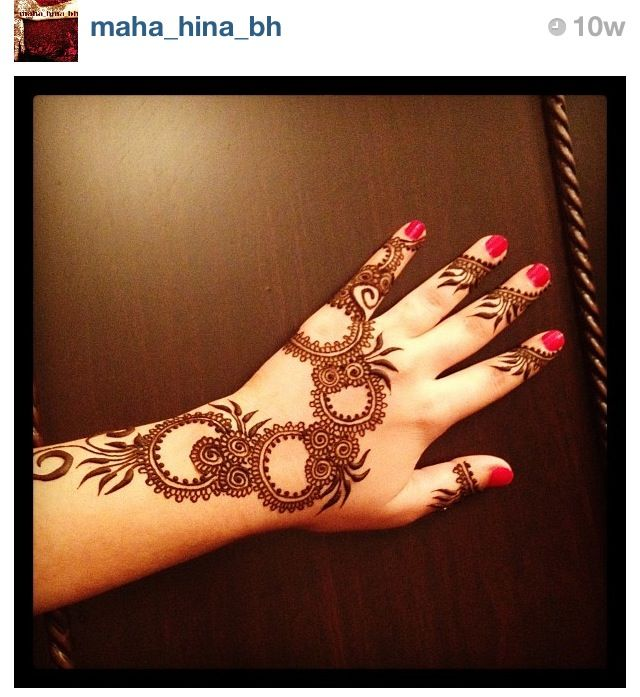 This is really simple but still pretty #henna