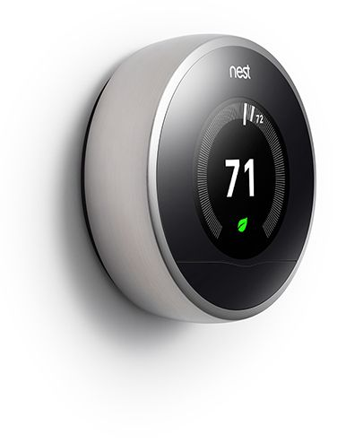 THE NEST. Touch screen learning thermostat, way more energy efficient, can control heat in home by using smart phone, tablet, etc. So cool...and we have it! :)