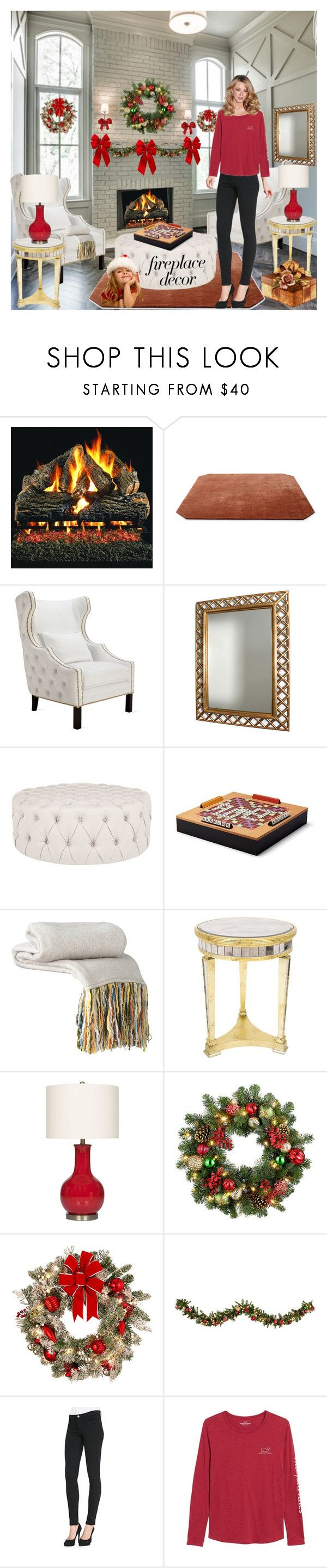 """""""Relaxing By The Fire!"""" by bevmardesigns ❤ liked on Polyvore featuring &Tradition, Rosin, Safavieh, Aspinal of London, Abbyson Living, Improvements, Frame and Vineyard Vines"""