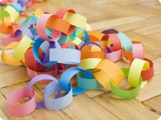 excited to make these chains with my son for his room ceiling, considering stringing lights in them