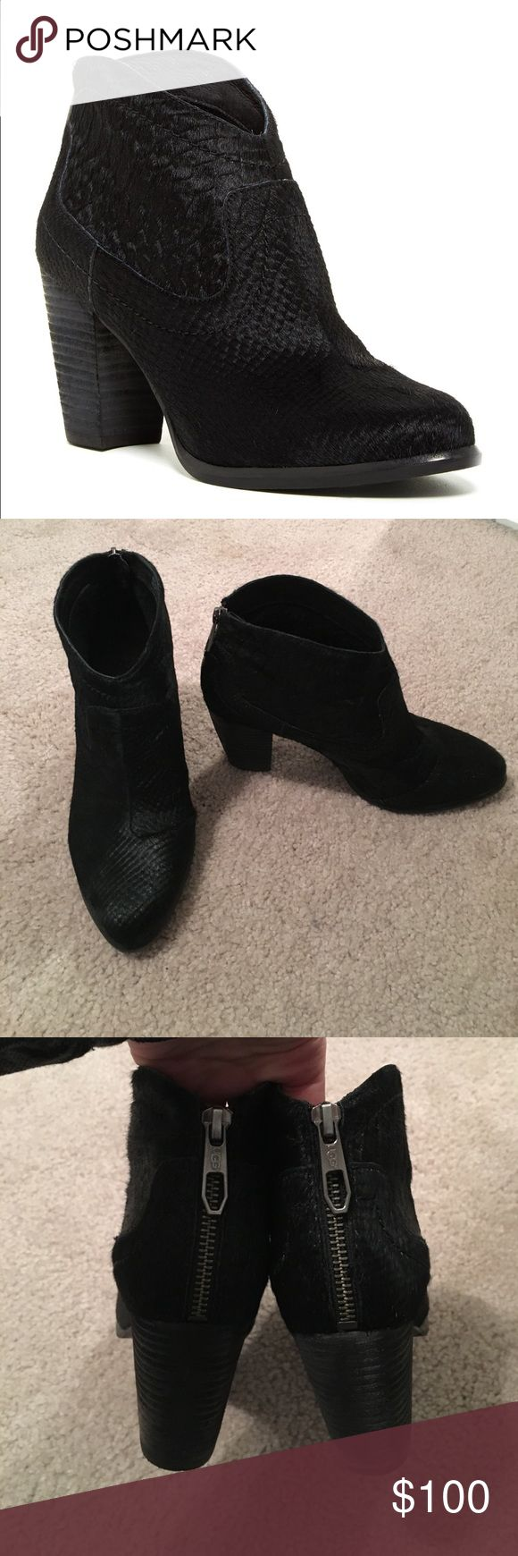 ugg charlotte pony hair ankle boots in black snake bought new and only worn three times - Coloration Sans Dcoloration