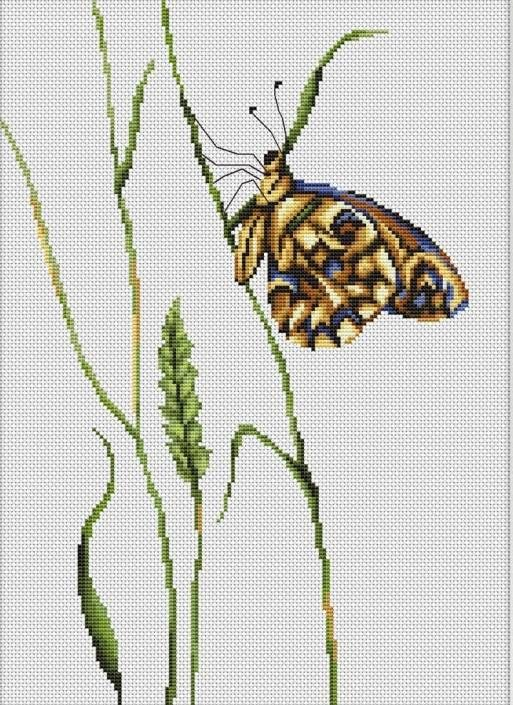 image of Spirit Of Summer Butterfly Cross Stitch Kit