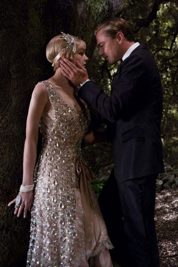 robe charleston années 20, scène romantique de Gatsby le Magnifique