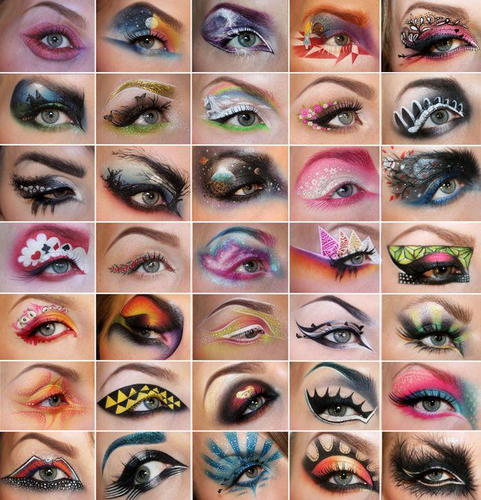 truebluemeandyou:  DIY Inspiration: Eye Makeup Collage by Sandra Holmbom here.…