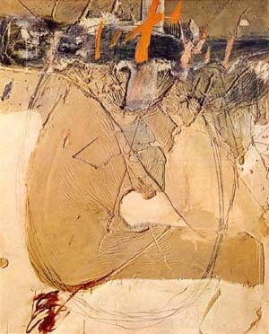 painting by Antonio Tapies