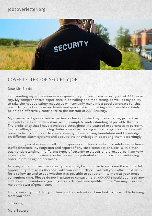27 best job cover letter images on Pinterest Resume cover - security jobs resume
