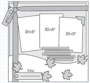 Scrapbook Page Sketch 249