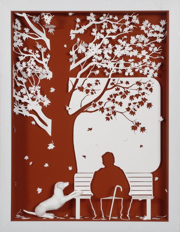 Вытынанка открытка осень, открытки веселые