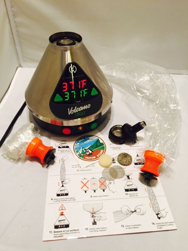 Digital Volcano Vaporizer with Easy valve  by Storz & Bickel @Tothecloudvapor