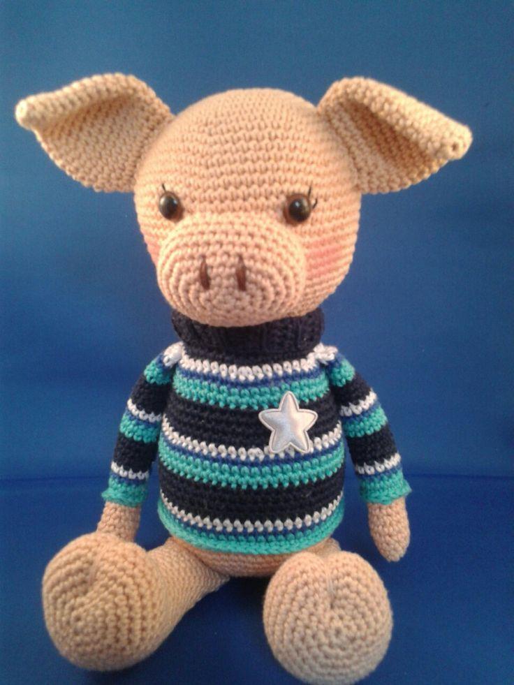 60 best pigs(crochet) images on Pinterest   Schweine, Häkelpuppen ...