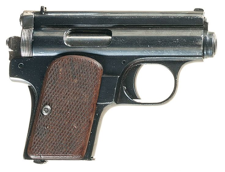 Manufacturer: Frommer Model: Baby Stop Finish: Blued Construction: Carbon Steel Action: Single-action Operation: Long-recoil, semi-automatic Type: Pistol Caliber: .32 ACP (7.65×17mm) or .380 ACP (9×17mm) Capacity: 6+1 or 5+1 Year(s) Produced: 1912-1929 Quantity Produced: ?