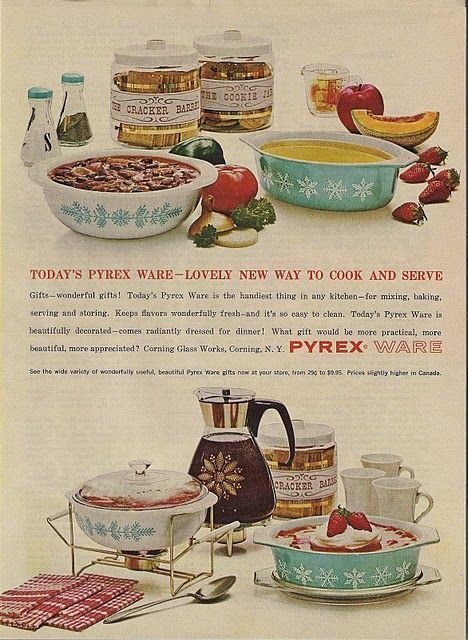 Retro Vintage Pyrex Ad You can find many of the Pyrex pieces pictured in this ad still today at One Of A Kind Antique Mall! We are Canada's largest antiques & collectibles market and are located at 97 Wilson Street in Woodstock, Ontario. Open 10 a.m. to 5 p.m. daily except for statutory holidays. Come see us soon! Visit our website at http://www.oneofakindantiquemall.com/