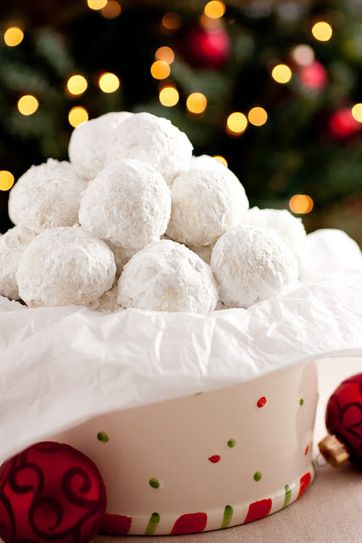 """Snow drop Cookies! It was a hit, I made sure to """"press in"""" lots of powdered suga"""