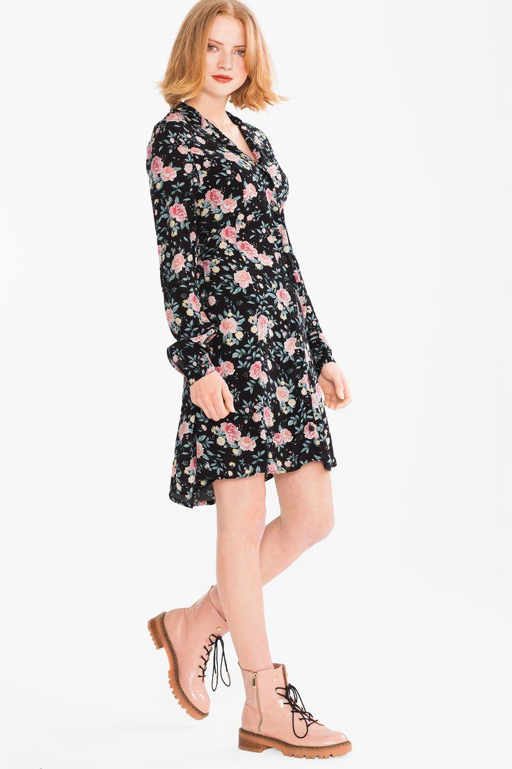 Kleid | Overall damen, C&a kleider, Kleid punkte