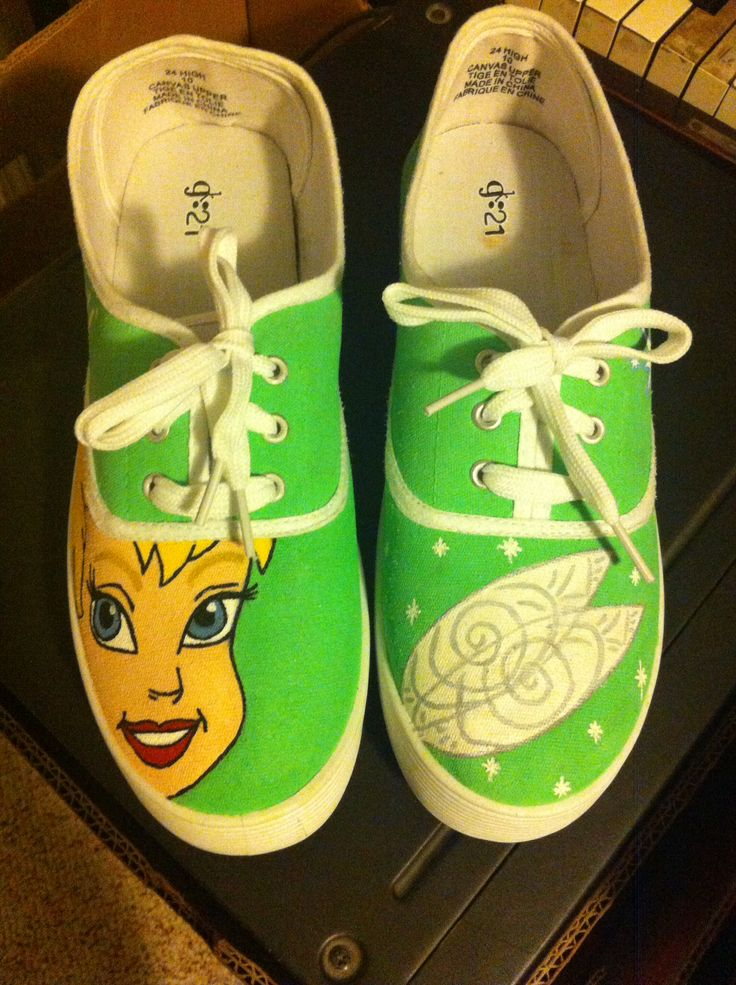 hand painted shoes done by Michelle Kim