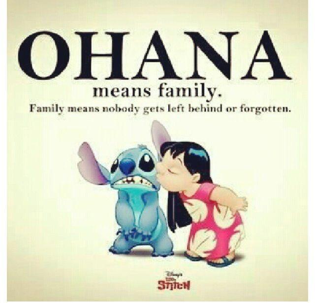True definition of FAMILY!!!♥♡♥ love my Ohana (Ohana means family in Hawaiian)