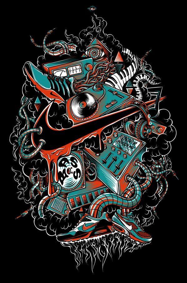Cool Nike Logos Nike art, Nike wallpaper, Graffiti