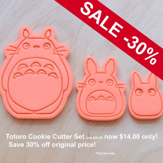 Totoro Chu Chibi emporte-pièces par CookieCutters4U sur Etsy