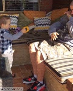 Dad Pranks Son With Fake Hand | Gif Finder – Find and Share funny animated gifs