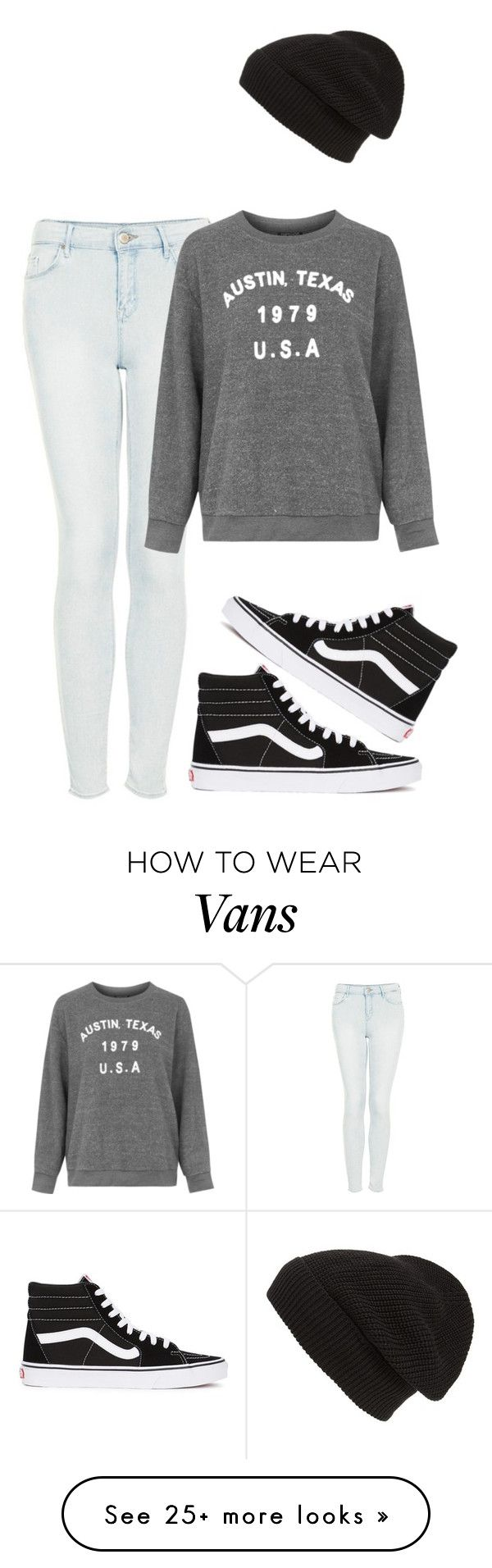 """""""Untitled #1498"""" by musicfasionbooks on Polyvore featuring Topshop, Vans and Phase 3"""