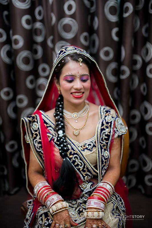 Marwadi Wedding, Bangalore | Bride waiting in her stunning lehenga | Weddings by Light Story | www.lightstory.in