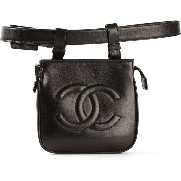 CHANEL VINTAGE belt bag ($1,310) ❤ liked on Polyvore featuring bags, belts, handbags, accessories, chanel, hip fanny pack, belt bag, zip top bag, waist bag and chanel bags