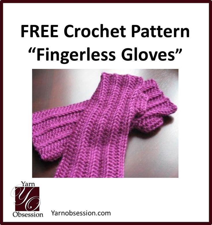 Crochet Fingerless Gloves Tutorials : Easy free pattern for crochet fingerless gloves from Yarn ...