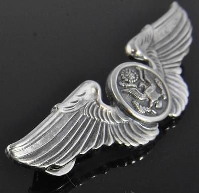 Vintage Sterling Silver Wwii Usaaf Army Air Force Pilot