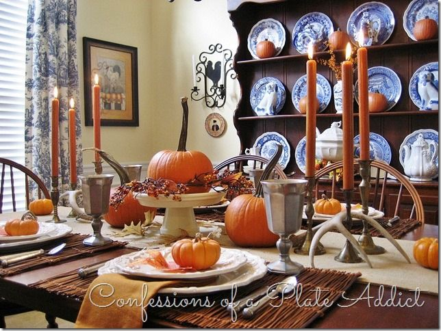 CONFESSIONS OF A PLATE ADDICT Thinking About Thanksgiving...Tablescape Inspiration