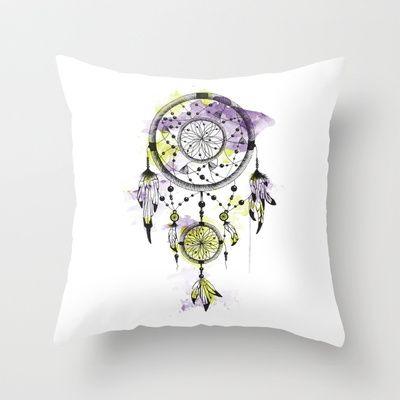 Dreamcatcher/Purple Throw Pillow by Klaff Design - $20.00