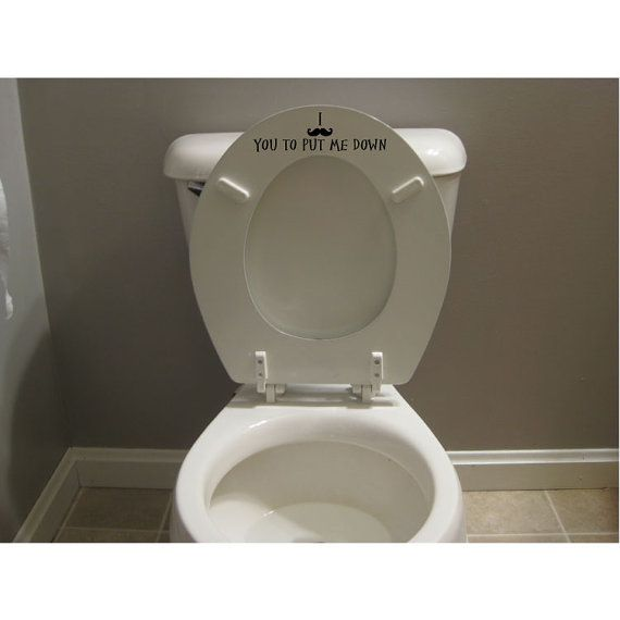 Funny Mustache Toilet Seat Decal Sticker Put The Seat Down Decal for Men I Mustache you to put me down on Etsy, $6.50