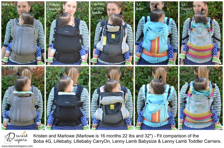 Baby Carrier Comparison Chart 2015 By Dearest Diapers